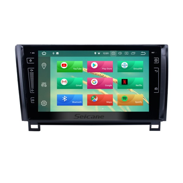 HD Touch Screen Android 8.0 for 2006 2007 2008-2013 Toyota Tundra Radio GPS Navigation 9 inch with Bluetooth WiFi Carplay support Steering Wheel Control 3G Mirror Link