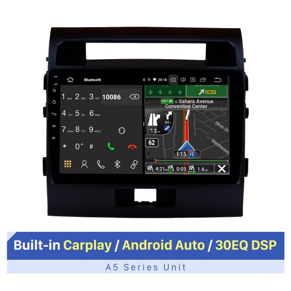 10.1 inch for 2007-2017 TOYOTA LAND CRUISER Android 10.0 HD TouchScreen Radio GPS Navigation System Bluetooth Support Car Stereo Music Carplay OBD2 WiFi Backup Camera