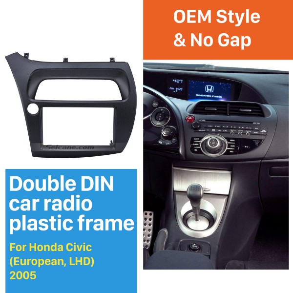 Professional 2Din 2005 Honda Civic European LHD Car Radio Fascia Trim Install Frame Dash Kit Auto Stereo CD