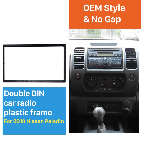 173*98mm Double Din 2010 Nissan Paladin Car Radio Fascia Installation Kit Stereo Frame Panel Dash Kit