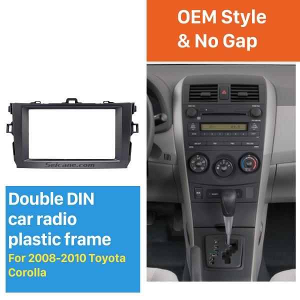Black Double Din 2008 2009 2010 Toyota Corolla Car Radio Fascia Stereo Dash Kit Audio Player Panel Plate Frame