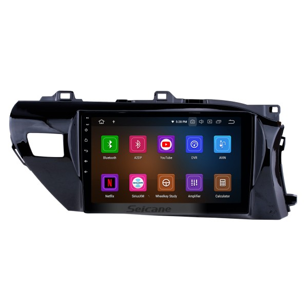 10.1 inch 2016-2018 Toyota Hilux RHD Android 9.0 GPS Navigation Radio Bluetooth HD Touchscreen AUX Carplay Music support 1080P Video Digital TV