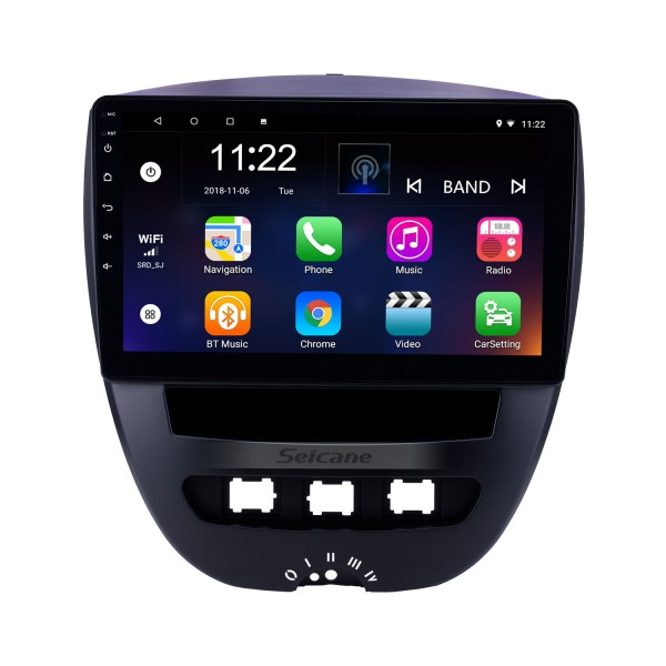 10.1 inch Android 8.1 2005-2014 Toyota Aygo GPS Navigation Radio with Bluetooth HD Touchscreen WIFI AUX USB support TPMS DVR Carplay SWC