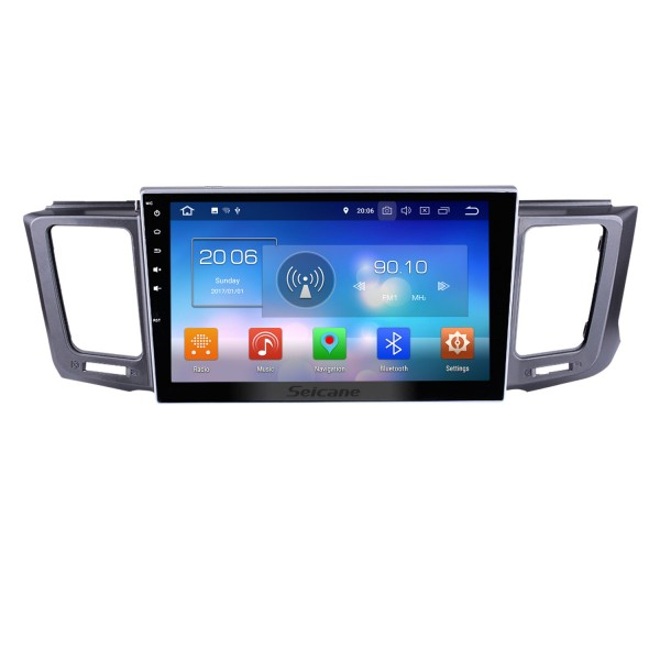 Autoradio Android 8.0 GPS navigation system for 2013-2017 Toyota RAV4 with DVD player Bluetooth  Mirror link  Capacitive multi-touch screen OBD DVR  TV USB WIFI Rear view camera