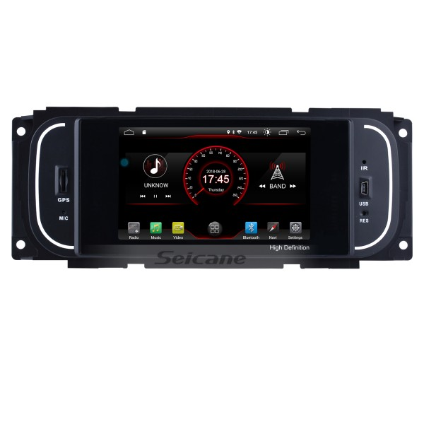 Android 8.1 HD TouchScreen Radio for 2003-2006 Jeep Wrangler with GPS Navigation System DVR WIFI OBD2 Bluetooth Steering Wheel control Mirror link 1080P TV USB SD