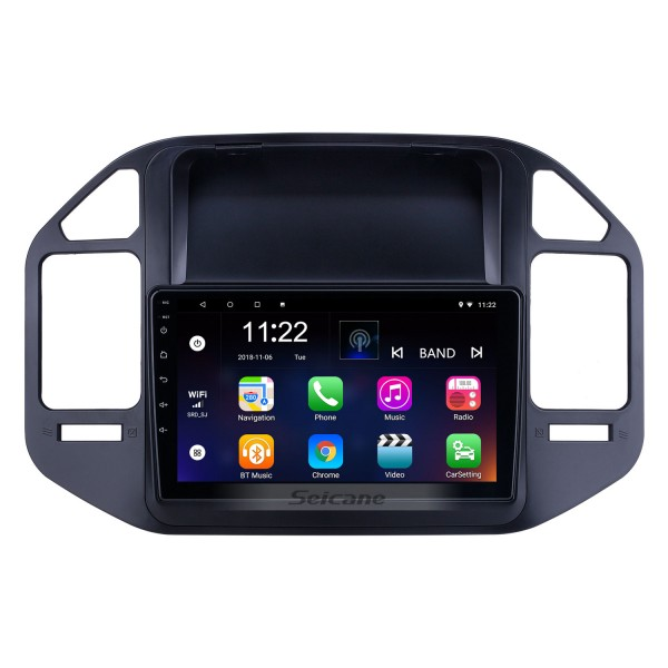 Android 10.0 9 inch for 2004 2005 2006-2011 Mitsubishi Pajero V73 Radio HD Touchscreen GPS Navigation System with Bluetooth support Carplay Rear camera