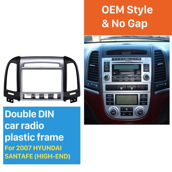 OEM Double Din 2007 HYUNDAI SANTAFE HIGH-END Car Radio Fascia Installation Trim Dash Kit Frame Panel Adapter