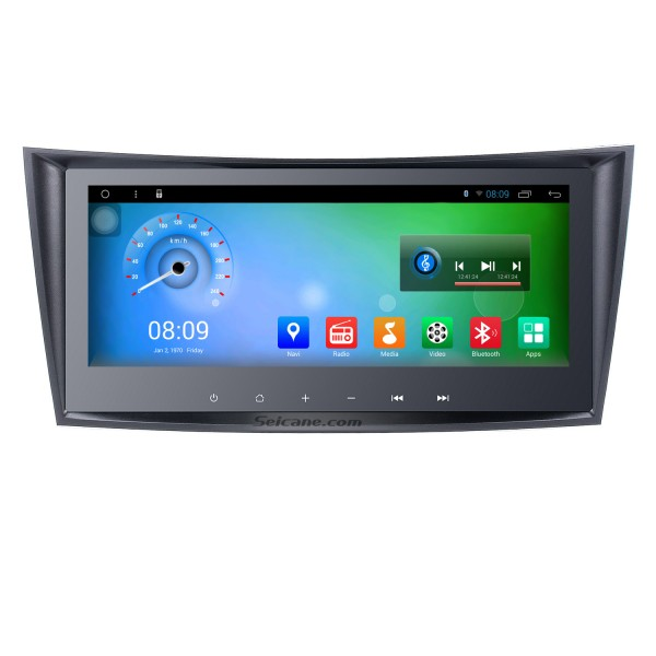9 Inch 2002-2008 Mercedes-Benz E Class E200 E220 E240 E270 E280 Android 4.4 Capacitive Touch Screen Radio GPS Navigation system with Bluetooth TPMS DVR OBD II Rear camera AUX USB SD 3G WiFi Steering Wheel Control Video