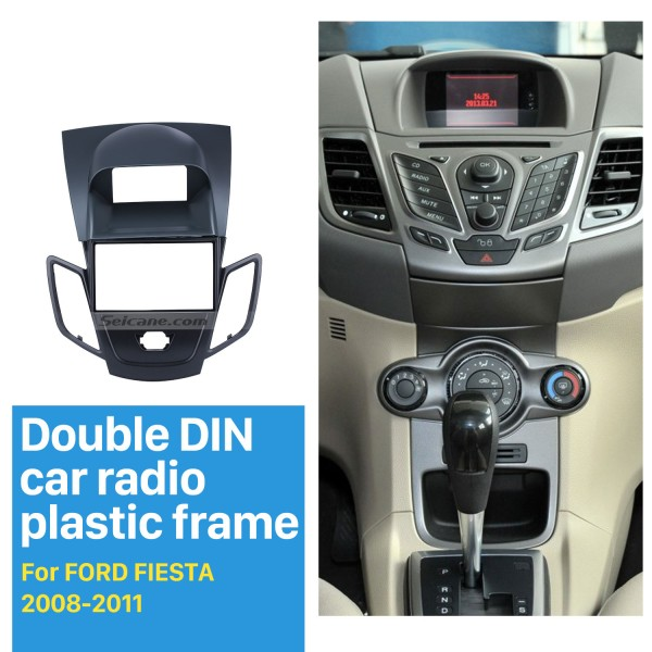 Double Din Car Radio Fascia for 2008-2011 Ford Fiesta Dash Mount CD Trim Car refitting DVD frame