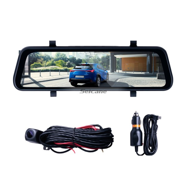 9.66 inch 170 Degree Large Angle HD 1280*480 USB Video DVR Rearview Camera Automatic Cyclic Recording