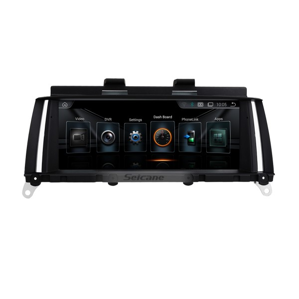 OEM 8.8 Inch Android 8.1 HD Touchscreen 2011-2013 BMW X3 F25 CIC Radio Head Unit GPS Navigation Bluetooth Support USB WIFI OBD2 Rearview Camera Steering Wheel Control