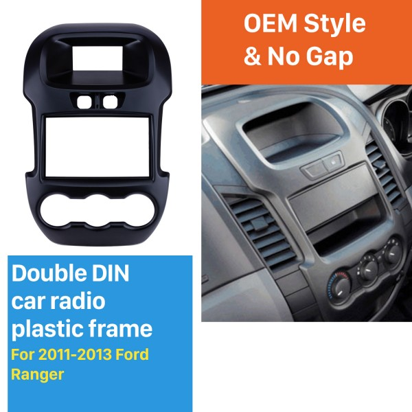 Great Double Din Car Radio Fascia for 2011 2012 2013 Ford Ranger Dash Mount DVD frame Stereo Player Panel Plate