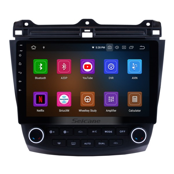 10.1 inch Android 8.0 2003-2007 Honda Accord 7  Radio Bluetooth GPS Navigation System with Car Rearview Camera 3G WiFi  Mirror Link OBD2 1080P Video Steering Wheel Control