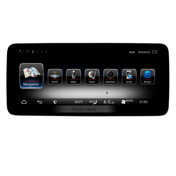 10.25 Inch Android 4.4 HD Touchscreen In Dash Radio Head Unit For 2011 2012 BMW 5 F10 Car Stereo GPS Navigation System Bluetooth Phone MP3 WIFI Support Backup Camera Steering Wheel Control