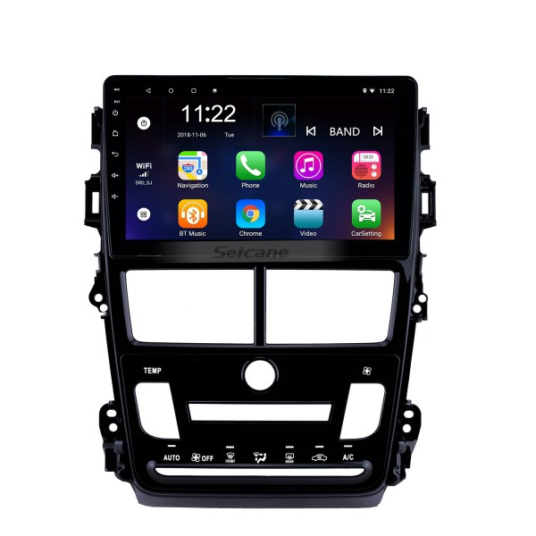 9 inch Android 10.0 car Radio GPS Navigition for 2018 Toyota Vios/Yaris Auto Air Conditioner 1024*600 Touchscreen Quad-core Bluetooth support DVR 3G WIFI OBD2 Rearview Camera