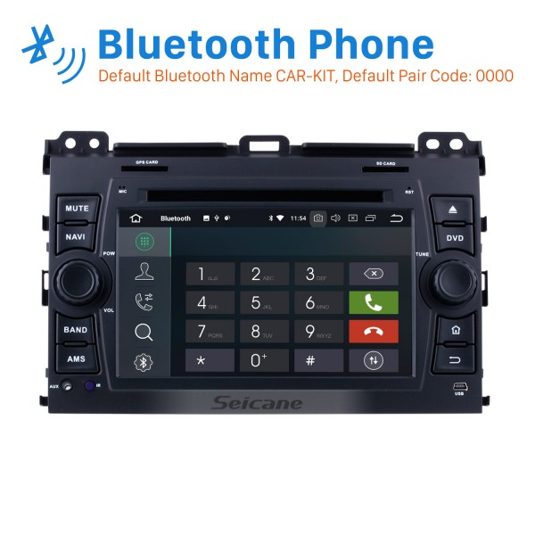 Android 8.0 1024*600 2002-2009 Lexus GX470 Radio DVD Player GPS Navigation System with Bluetooth Music 3G WiFi Mirror Link OBD2 Rearview Camera HD Multi-touch Screen 1080P USB SD