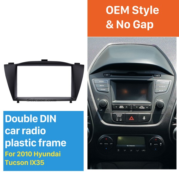 Stunning Double Din 2010 HYUNDAI TUCSON IX35 Car Radio Fascia Install Frame DVD panel Stereo Interface