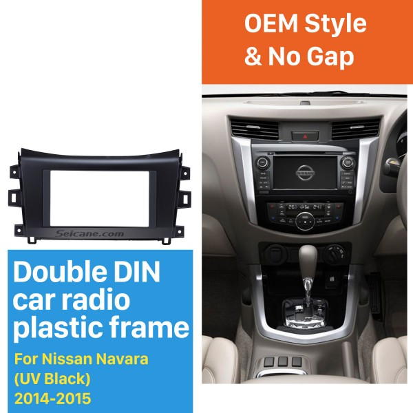 UV Black Double Din 2014 2015 Nissan Navara NISSAN NP300 Car Radio Fascia Trim Installation Kit Install Frame Dash CD