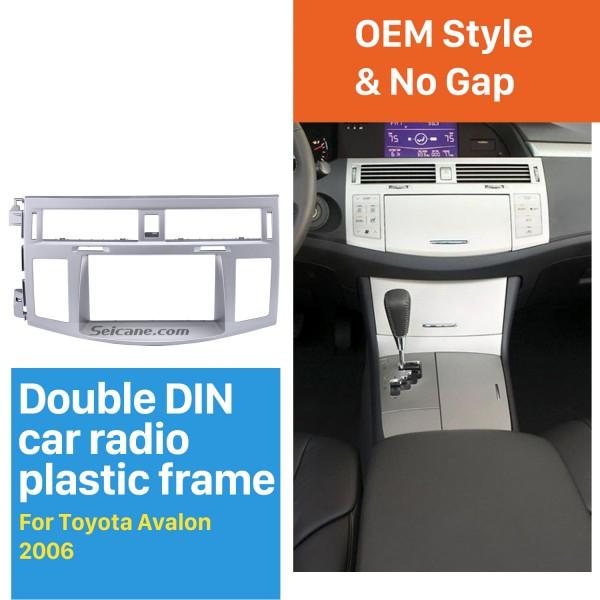 Silver Double Din 2006 Toyota Avalon Car Radio Fascia Audio Fitting Adaptor Stereo Dash Frame CD Trim