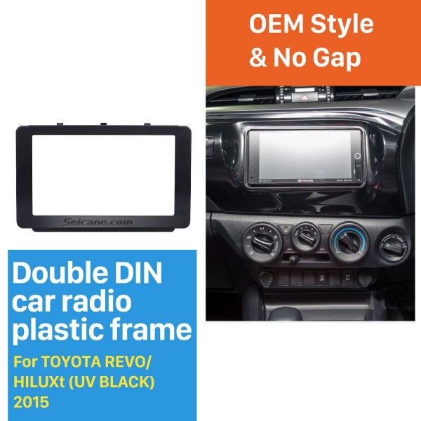 173*98mm Double Din 2015 Toyota Revo Hilux Car Radio Fascia DVD Frame Dash Mount Audio Fitting Adaptor