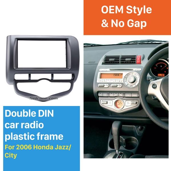 Awesome Double Din 2006 Honda Jazz City Auto AC RHD Car Radio Fascia Audio Cover DVD Frame Auto Stereo CD