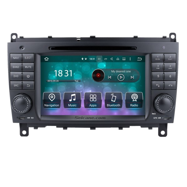 Android 9.0 GPS Navigation system for 2006-2011 Mercedes-Benz CLK W209 CLK270 CLK320 CLK350 CLK500 with Radio DVD Player Touch Screen Bluetooth WiFi TV HD 1080P Video Backup Camera steering wheel control USB SD