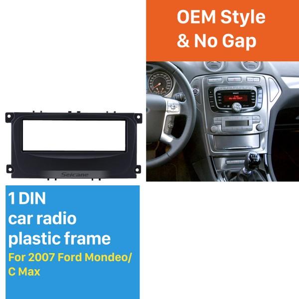 Superb 1Din Car Radio Fascia for 2007 Ford Mondeo C Max DVD Panel In Dash Mount Kit CD Trim Audio Frame