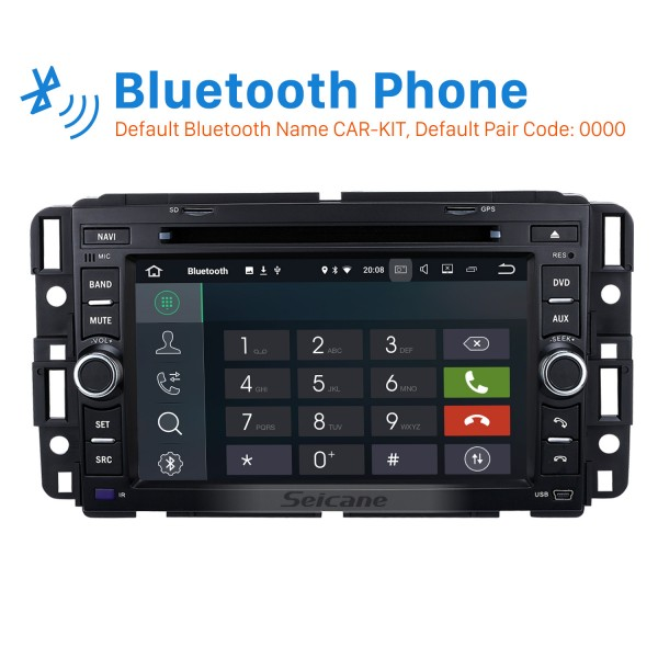 Android 8.0 GPS Navigation System for 2007-2011 Chevrolet Chevy Avalanche with Radio DVD Player Bluetooth Touch Screen DVR WIFI TV Steering Wheel Control