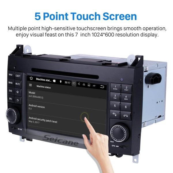 In dash Android 8.0 GPS Navigation system for 2006-2012 Mercedes Benz Sprinter W906 W209 W311 W315 W318 with Radio Touch Screen Bluetooth DVD Player WiFi TV steering wheel control USB SD HD 1080P Video Backup Camera