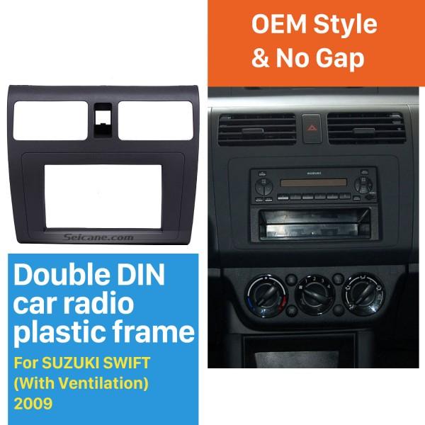 Great 2Din 2009 Suzuki Swift with Ventilation Car Radio Fascia Audio Frame Panel Face Plate CD Trim