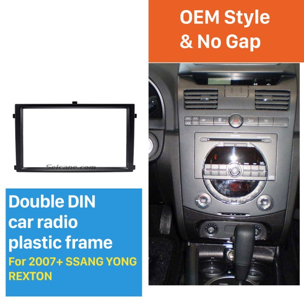 Great Quality 2 Din Car Radio Fascia for 2007+ SSANG YONG REXTON Auto Stereo Interface Panel Audio Fitting Frame Adaptor