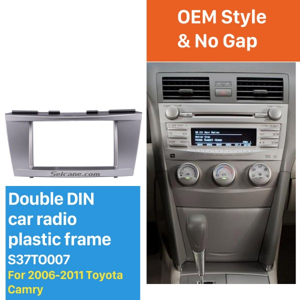 173*98mm Double Din Car Radio Fascia for 2006-2011 Toyota Camry Audio Cover Frame Installation Kit Face Plate