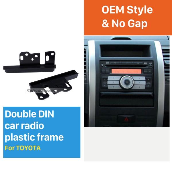 Classic Design 10mm 2Din Toyota Ear Sides Car Radio Fascia CD Trim Panel Frame In Dash Mount Kit Stereo Interface
