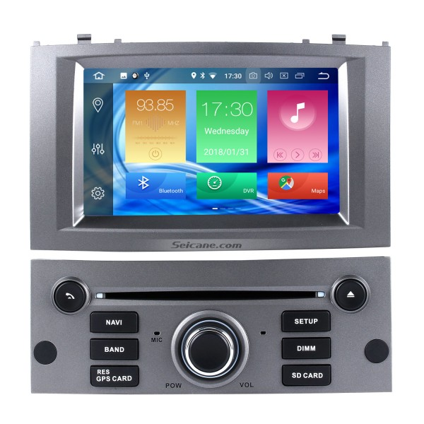 OEM Android 8.0 Radio GPS Navigation system for 2004-2010 Peugeot 407 with Wifi Backup Camera Bluetooth Mirror Link Steering Wheel Control OBD2 DAB+ DVR AUX
