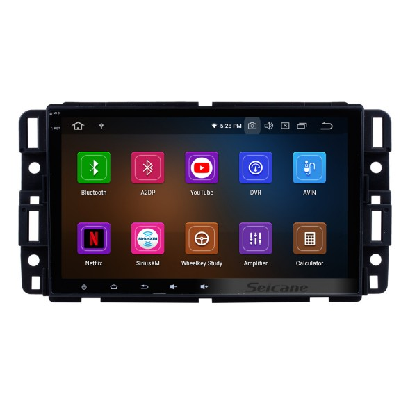 8 Inch Android 9.0 HD Touchscreen Radio Head Unit For 2009 2010 2011 Chevrolet Chevy Traverse Car Stereo GPS Navigation System Bluetooth Phone WIFI Support Digital TV DVR USB DAB+ OBDII Steering Wheel Control Rearview Camera
