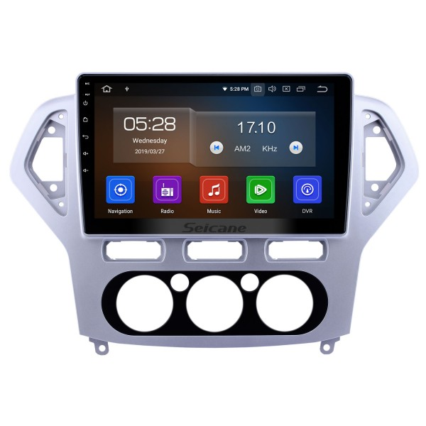 10.1 inch Android 9.0 GPS Navigation Radio for 2007-2010 Ford Mondeo-Zhisheng Manual A/C Bluetooth Wifi HD Touchscreen Carplay support 1080P