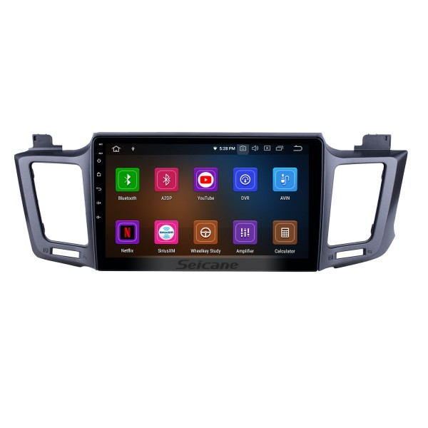 10.1 inch Android 9.0 Radio for 2013-2016 Toyota RAV4 LHD with GPS Navigation HD Touchscreen Bluetooth Carplay support Rearview camera DAB+