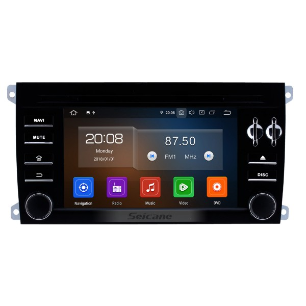 HD 1024*600 touchscreen 2003-2011 Porsche Cayenne Android 9.0 Radio Replacement with Aftermarket GPS DVD Player 3G WiFi Bluetooth Music Mirror Link OBD2 Backup Camera DVR AUX MP3 MP4 HD 1080P