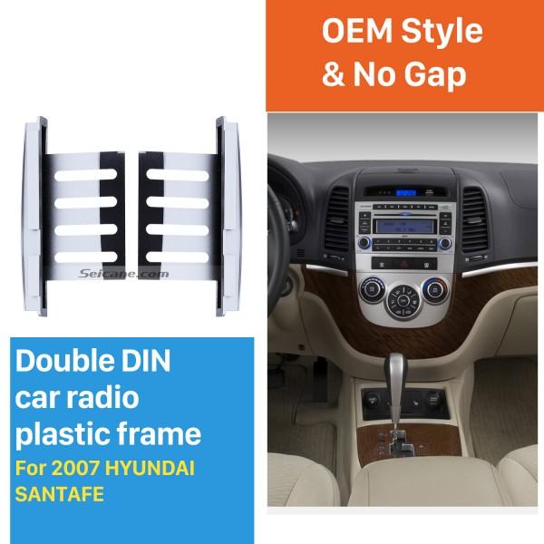 178*100mm 2Din 2007 HYUNDAI SANTAFE Car Radio Fascia Panel Adaptor DVD Player Auto Stereo Installation Frame
