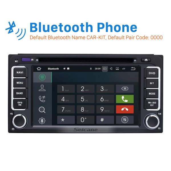 All-in-one Android 9.0 Touch Screen Radio GPS System for 2001-2011 TOYOTA HILUX with CD DVD Player Bluetooth AUX Mirror Link WiFi 4G OBD2 1080P Mp3 Mp4