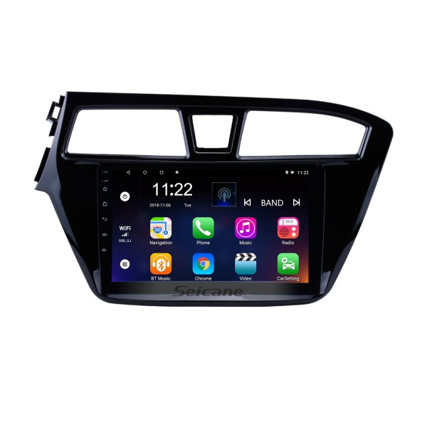 9 inch HD Touch Screen Android 8.1 Radio GPS Navigation for 2014 2015 HYUNDAI I20 LHD with Bluetooth USB Music WIFI Mirror Link DVR OBD2