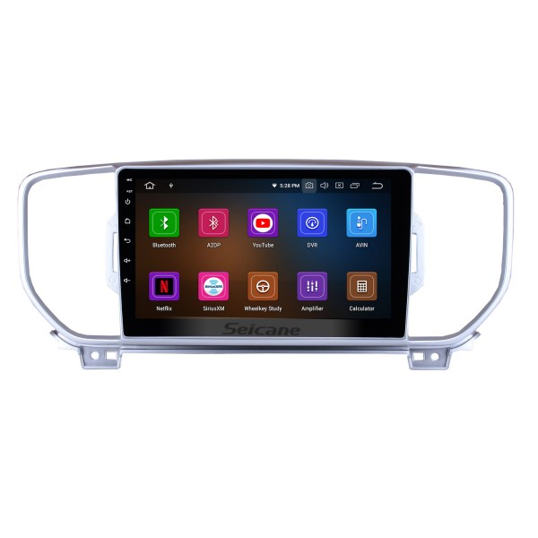 9 Inch HD Touchscreen Android 9.0 2016-2017 Kia KX5 Car Stereo Radio Head Unit GPS Navigation Bluetooth Support Steering Wheel Control USB WIFI OBD2 Rearview Camera