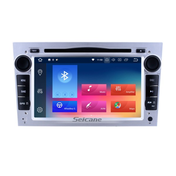 HD 1024*600 Touch Screen Android 9.0 2005-2011 Opel Zafira Multimedia GPS Radio Stereo Replacement with CD DVD Player Bluetooth OBD2 Backup Camera Mirror Link 3G WiFi HD 1080P Video