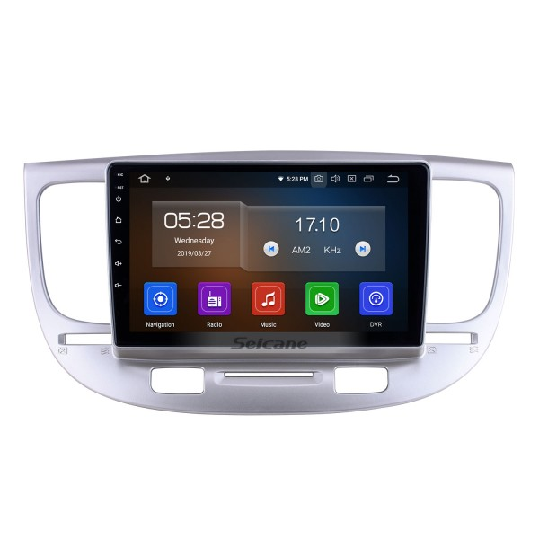 OEM 9 inch Android 10.0 for 2007 Kia Rio Radio Bluetooth HD Touchscreen GPS Navigation System Carplay support DVR Steering Wheel Control