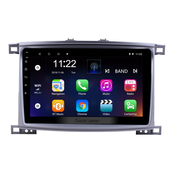 10.1 inch Android 10.0 GPS Navigation Radio for 2003-2008 Toyota Land Cruiser 100 Auto A/C with HD Touchscreen Bluetooth USB support Carplay TPMS