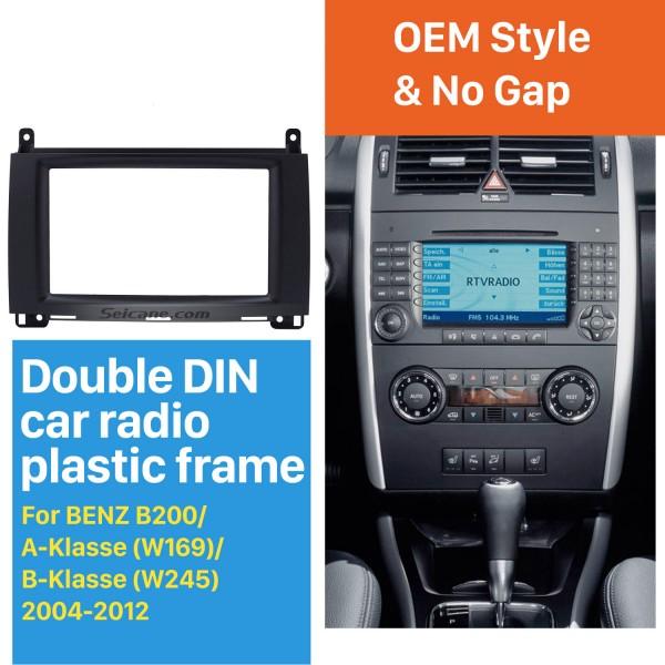 2Din 2004-2012 Mercedes BENZ B200 A-Class W169 B-Class W245 Car Radio Fascia DVD Panel Face Plate Dash Installation Frame Kit