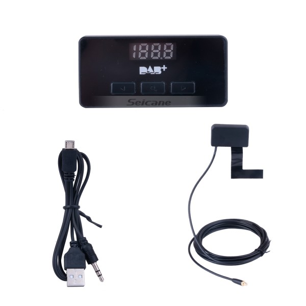 High-fidelity Sound Digital Audio receiver Car Kit DAB+ with RDS Function USB interface Omni-directional antenna