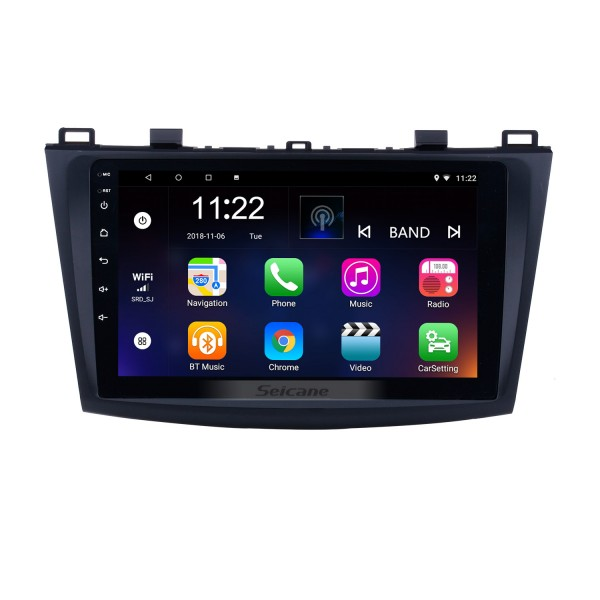 9 inch Touch Screen Android 8.1 Car Radio for 2009 2010 2011 2012 MAZDA 3 with GPS Sat Nav Bluetooth WIFI USB OBD2 Rearview Camera Mirror Link 1080P
