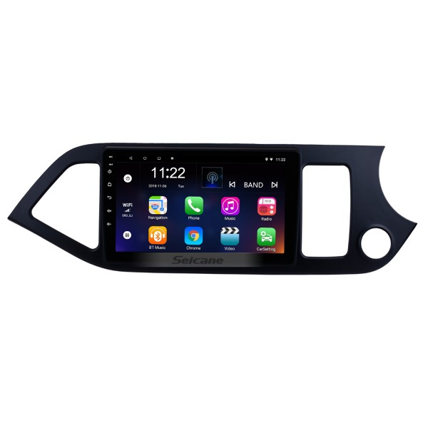 Android 8.1 Multimedia player for 2011-2014 KIA Picanto Morning RHD 9 inch HD Touchscreen Radio  WIFI OBD2 Bluetooth GPS Navigation system Mirror link DVR Backup camera TV USB HD 1080P Video Steering Wheel control