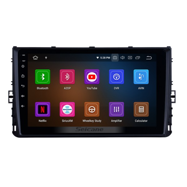 OEM 9 inch HD Touchscreen GPS navigation system Android 9.0 for 2018 VW Volkswagen Universal Support 3G/4G WiFi Radio Bluetooth Vedio Carplay Steering Remote Control